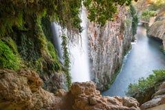 Cola de Caballo horsetail waterfall, Monasterio de Piedra, Nuevalos, Zaragoza, Spain. Cola de Caballo waterfall, Monasterio de Piedra, Nuevalos, Zaragoza, Spain stock photography
