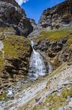 Cola de Caballo Waterfall in Ordesa Valley, Aragon, Spain Stock Images