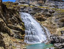 Cola de Caballo Waterfall in Ordesa Valley, Aragon, Spain Royalty Free Stock Photo