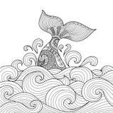 Cola de la ballena Fotografía de archivo libre de regalías