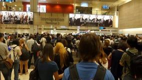 Cola de la muchedumbre en la inmigración de la llegada Imagen de archivo