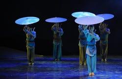 Cola del paraguas - el drama de la danza la leyenda de los héroes del cóndor Fotografía de archivo libre de regalías