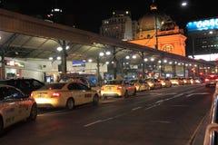 Cola del taxi Fotografía de archivo