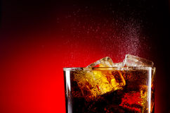 Cola do gelo Fotografia de Stock Royalty Free