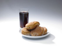 Cola and doughnuts Royalty Free Stock Images