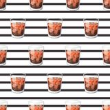 Cola drink in a glass cup with ice with sticks Vector Illustration.   Stock Image