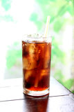 Cola drink in glass. Royalty Free Stock Photo