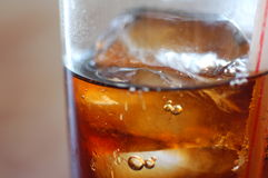 Cola Drink with ice cubes Royalty Free Stock Photo