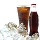 Cola drink with ice Royalty Free Stock Photography