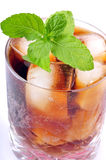 Cola drink with mint Royalty Free Stock Photos