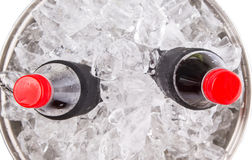 Cola Drinks With Ice Cubes IX Royalty Free Stock Photo