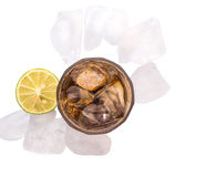 Cola Drinks With Lime and Ice VI Stock Image