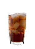 Cola e gelo, isolados Fotos de Stock