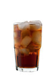 Cola e ghiaccio, isolati Fotografie Stock
