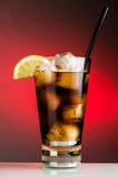 Cola e hielo Fotografía de archivo