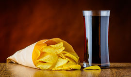 Cola e patatine fritte Immagini Stock