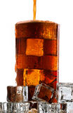 Cola fría en el fondo blanco Imágenes de archivo libres de regalías