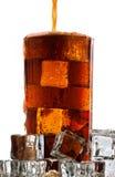 Cola fredda su priorità bassa bianca Immagini Stock Libere da Diritti