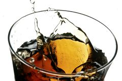 Cola in glass Royalty Free Stock Images