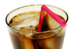 Cola glass close-up Stock Photo