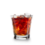 Cola glass with ice cubes Stock Photo
