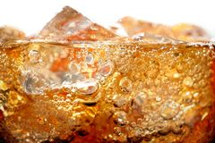 Cola. A glass of cola with ice cubes royalty free stock photo
