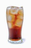 Cola glass with ice cubes Stock Photography