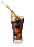 Cola in glass Stock Images