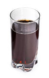 Cola in glass on white Royalty Free Stock Images