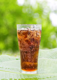 Cola Glass With Ice Royalty Free Stock Photography