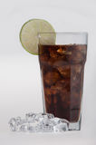 Cola in highball glass with lemon slice Royalty Free Stock Photo