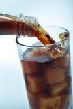 Cola with ice Stock Photography