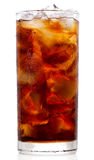 Cola with ice Royalty Free Stock Photos