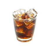 Cola with ice Stock Image