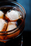 Cola with ice Royalty Free Stock Photo