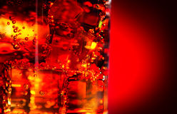 Cola with ice closeup Royalty Free Stock Photography