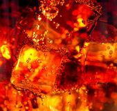 Cola with ice closeup Royalty Free Stock Image