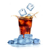 Cola with ice cubes Stock Image