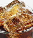 Cola With Ice Cubes Stock Images