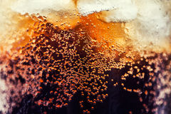 Cola with ice cubes Royalty Free Stock Images