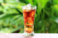Cola and ice cubes Royalty Free Stock Photos