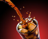 Cola with ice Stock Photo