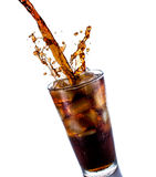 Cola with ice Stock Photos
