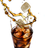 Cola with ice Royalty Free Stock Images