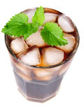 Cola with ice in glass Royalty Free Stock Photos