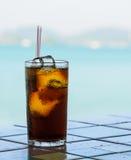 Cola with ice Stock Photo