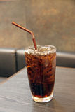 Cola and ice in Glass of drink. Royalty Free Stock Photo