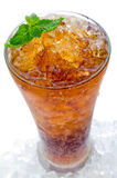 Cola with ice in a glass Royalty Free Stock Photo