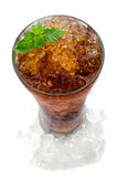 Cola with ice in a glass Royalty Free Stock Images
