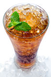 Cola with ice in a glass Stock Image